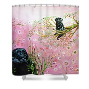 Gorilla And Dog Animal Totem Shower Curtain