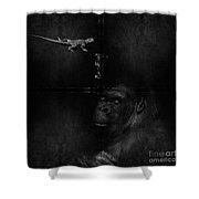 Gorilla And Lizard Shower Curtain