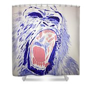 Gorilla Roars Shower Curtain