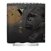 Gorillas Shower Curtain