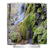 Gorman Falls At Colorado State Park II - San Saba Texas Hill Country Shower Curtain