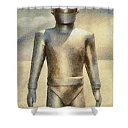Gort From The Day The Earth Stood Still Shower Curtain