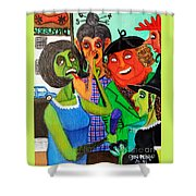 Gossips At The Greengrocer's Shower Curtain