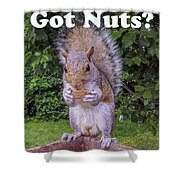 Got Nuts? Shower Curtain