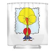 Got Some Brains Gooniebird Shower Curtain