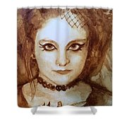 Goth Lady Shower Curtain