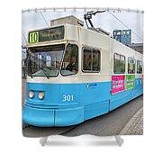 Gothenburg City Tram Shower Curtain