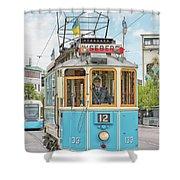 Gothenburg Liseberg Tram Shower Curtain