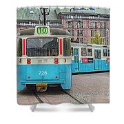 Gothenburg Public Tram Shower Curtain