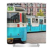 Gothenburg Public Tramcar Shower Curtain