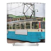 Gothenburg Tram Car Shower Curtain