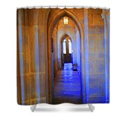 Gothic Arch Hall Shower Curtain