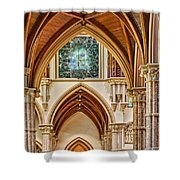 Gothic Arches - Holy Name Cathedral - Chicago Shower Curtain