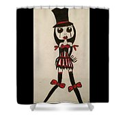 Gothic Burlesque Girl  Shower Curtain