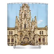 Gothic Cathedral In Havana Shower Curtain