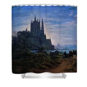 Gothic Church On A Rock Shower Curtain