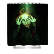 Gothic Female Model Shower Curtain