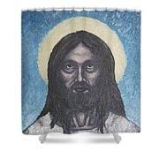 Gothic Jesus Shower Curtain
