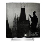 Gothic Nights Shower Curtain by Sharon Coty