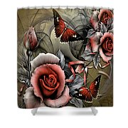 Gothic Roses Shower Curtain
