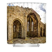 Gothic Temple Ruins - San Domingos Shower Curtain