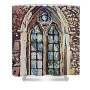 Gothic Window Shower Curtain