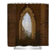Gothic Windows In The Ruins Of The Monastery At Oybin Shower Curtain