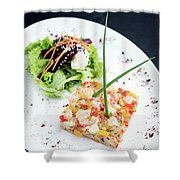 Gourmet Raw Tuna Tartare Ceviche With Mango Lime And Chilli Shower Curtain