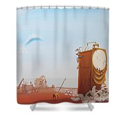 Government Clock Shower Curtain