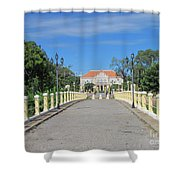 Governor Mansion In Battambang Cambodia Shower Curtain