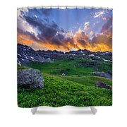 Governor's Basin Sunset Shower Curtain