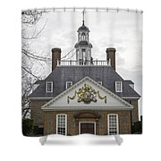Governors Palace Back Door 01 Shower Curtain