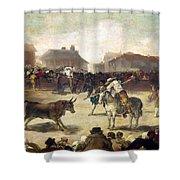 Goya: Bullfight, 1793 Shower Curtain