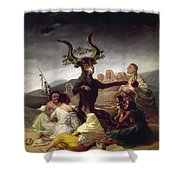 Goya: Witches Sabbath Shower Curtain