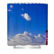 Gpo Phone Box Beach Shower Curtain