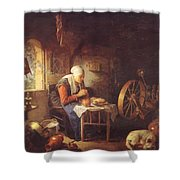 Grace Before Meat Shower Curtain