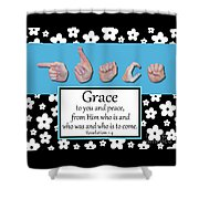Grace - Bw Graphic Shower Curtain