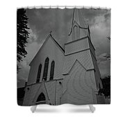 Grace In Black And White Shower Curtain