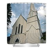 Grace In The White Mountains Shower Curtain