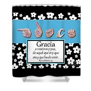Grace Spanish - Bw Graphic Shower Curtain