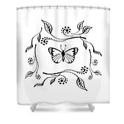 Graceful Butterfly Baby Room Decor Iv Shower Curtain