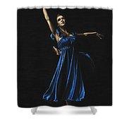 Graceful Dancer In Blue Shower Curtain