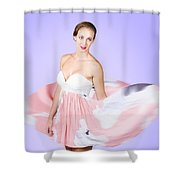Graceful Dreamy Dancing Girl In Pink Dress Shower Curtain