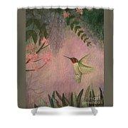 Graceful Hummingbird Shower Curtain