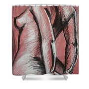 Graceful Pink - Nudes Gallery Shower Curtain by Carmen Tyrrell