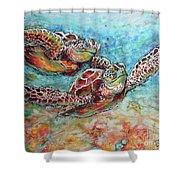 Sea Turtle Buddies Shower Curtain