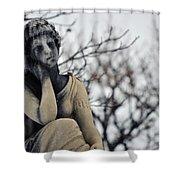 Graceland Cemetery Woman Shower Curtain