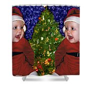 Gracies Christmas Tree Shower Curtain