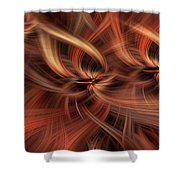 Graciousness. Mystery Of Colors Shower Curtain