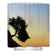 Lonely, Loutro, Chania, Crete, Greece Shower Curtain